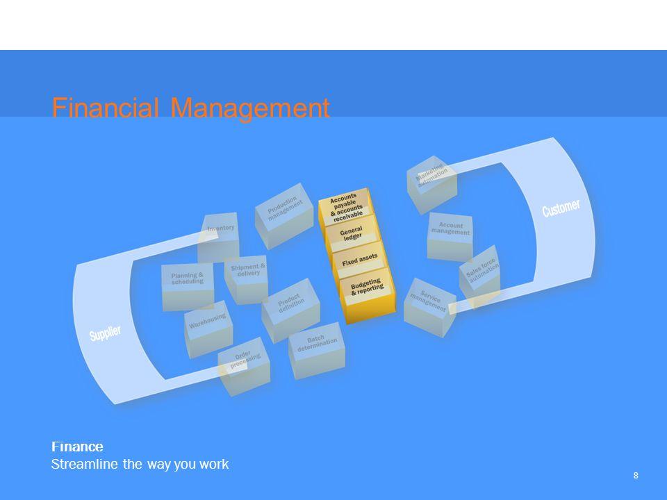 8 Finance Streamline the way you work Financial Management