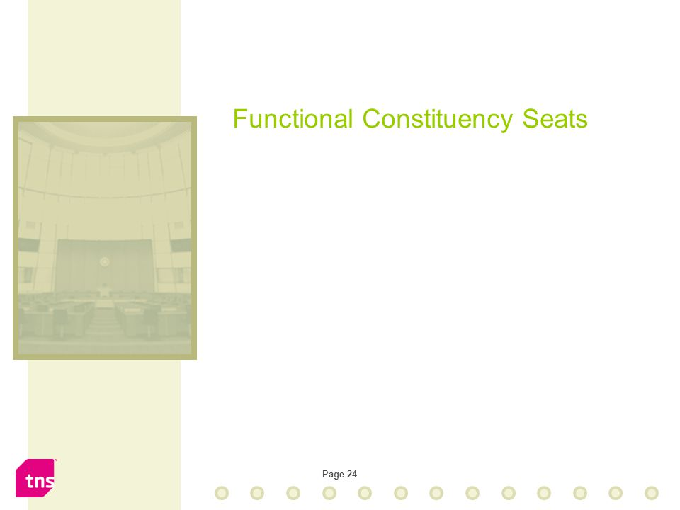 Page 24 Functional Constituency Seats