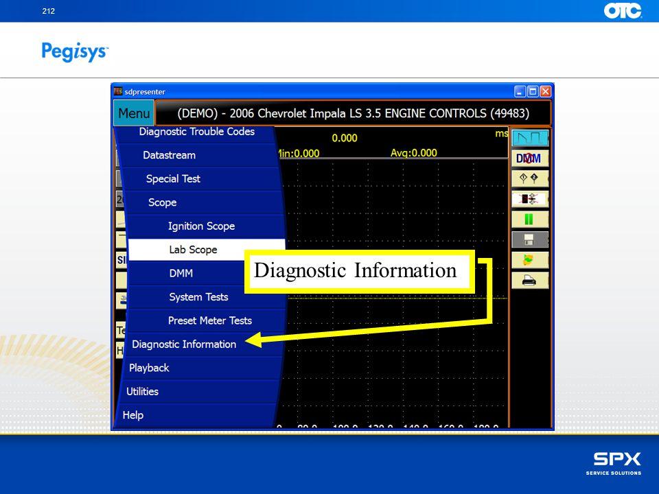212 Diagnostic Information