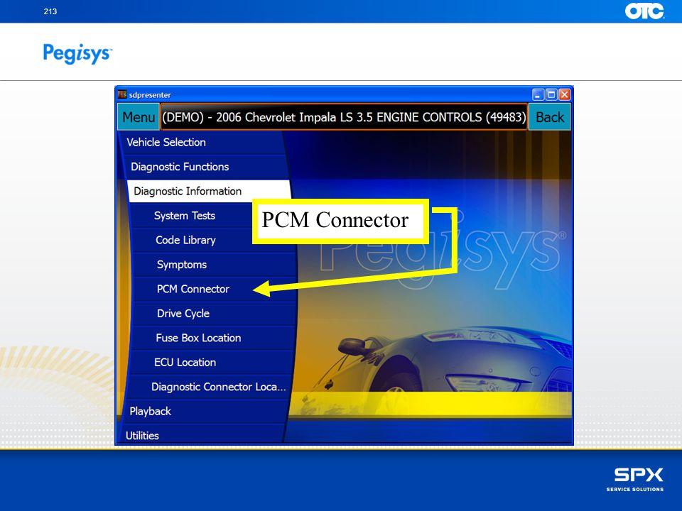 213 PCM Connector