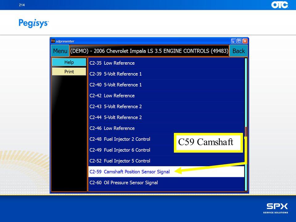 214 C59 Camshaft