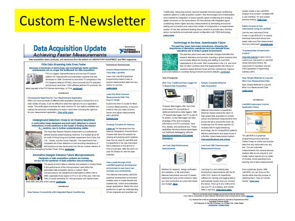Custom E-Newsletter