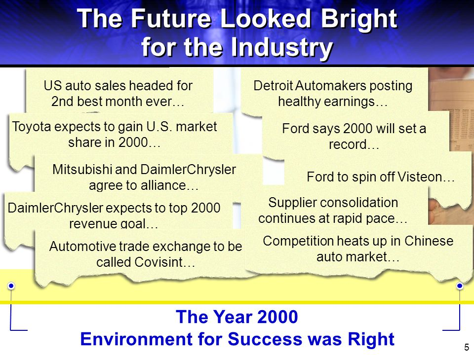 6 Industry Challenges Environment for Success was Volatile Foreign Automakers boost N.A.