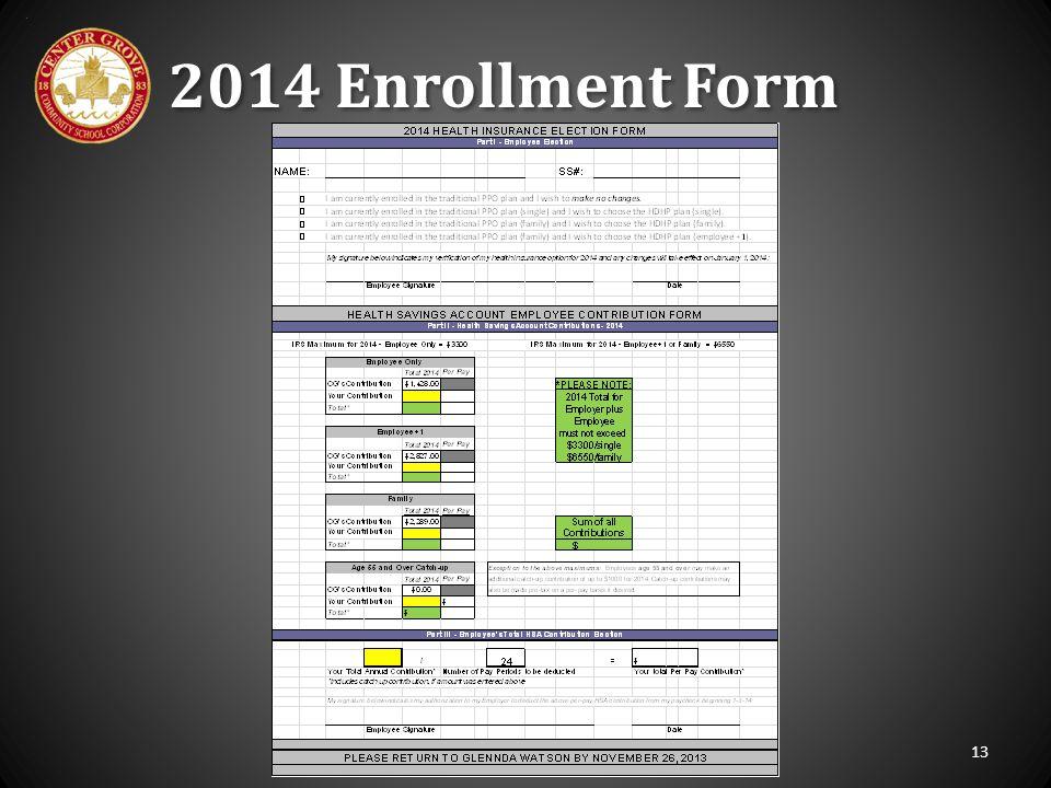 2014 Enrollment Form 13