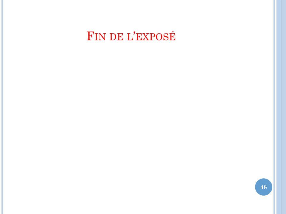 F IN DE L ' EXPOSÉ 48
