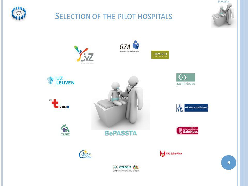 S ELECTION OF THE PILOT HOSPITALS 6 BePASSTA