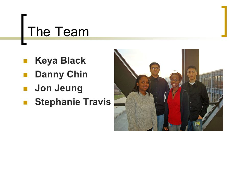 The Team Keya Black Danny Chin Jon Jeung Stephanie Travis