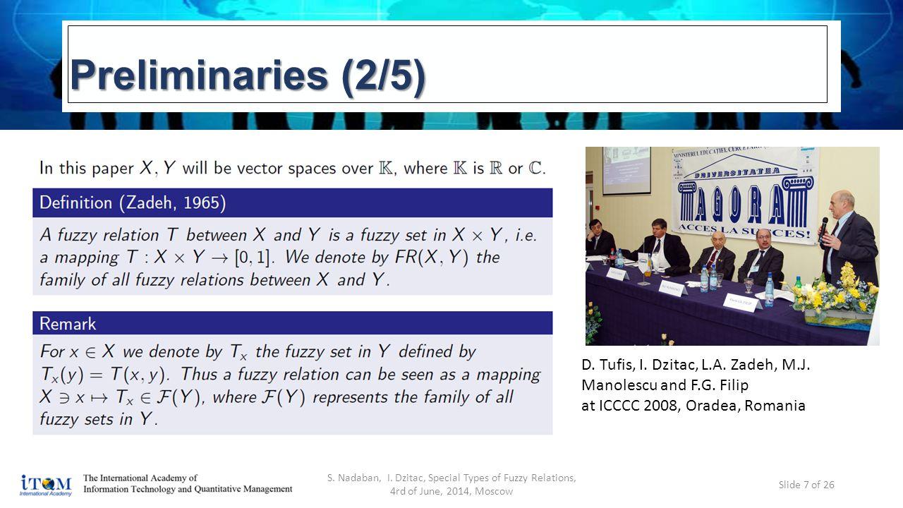 Preliminaries (2/5) S. Nadaban, I.