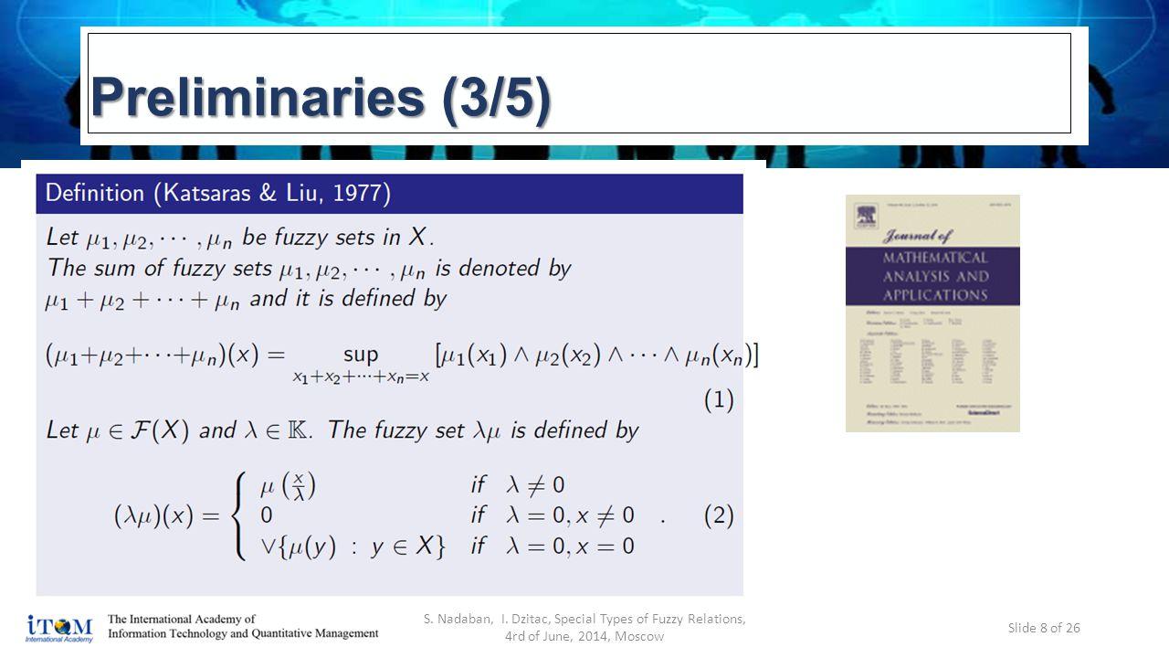 Preliminaries (3/5) S. Nadaban, I.