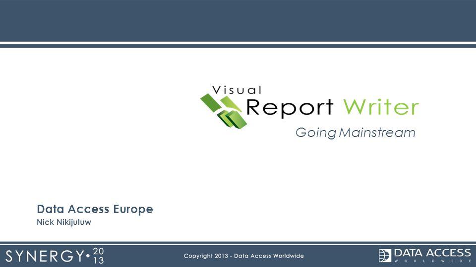 Going Mainstream Data Access Europe Nick Nikijuluw