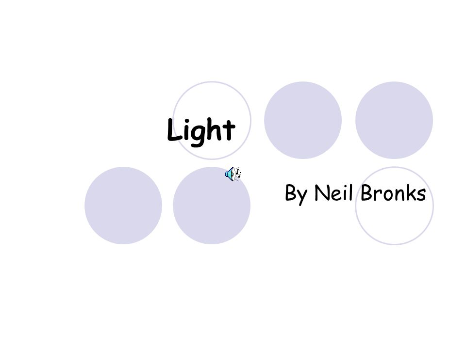 Light By Neil Bronks