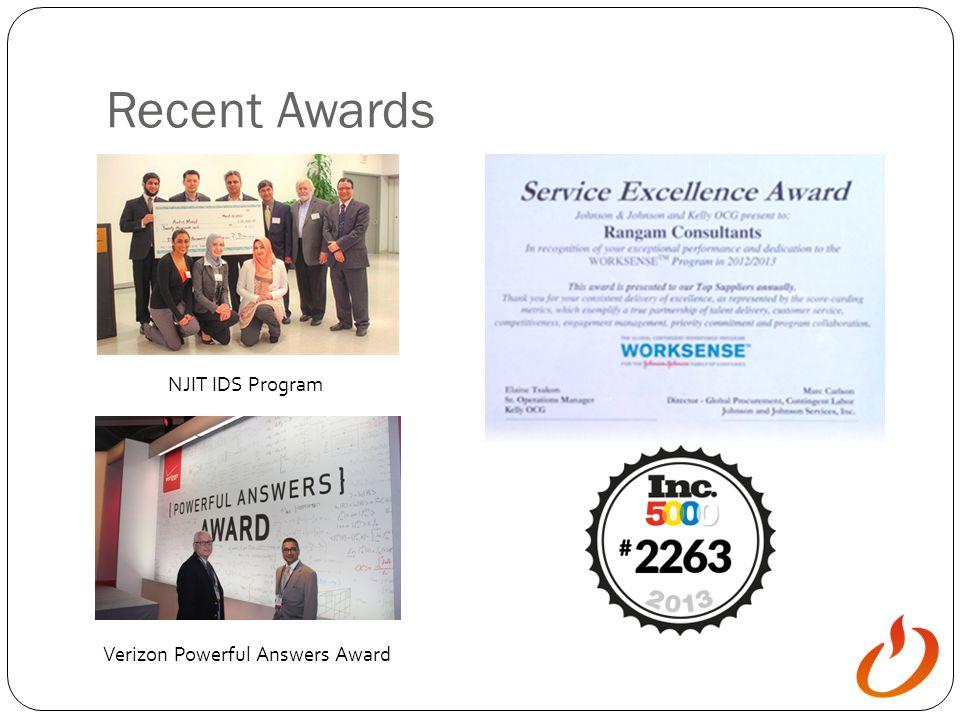 Recent Awards NJIT IDS Program Verizon Powerful Answers Award