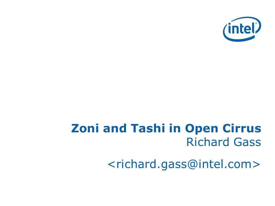 Zoni and Tashi in Open Cirrus Richard Gass