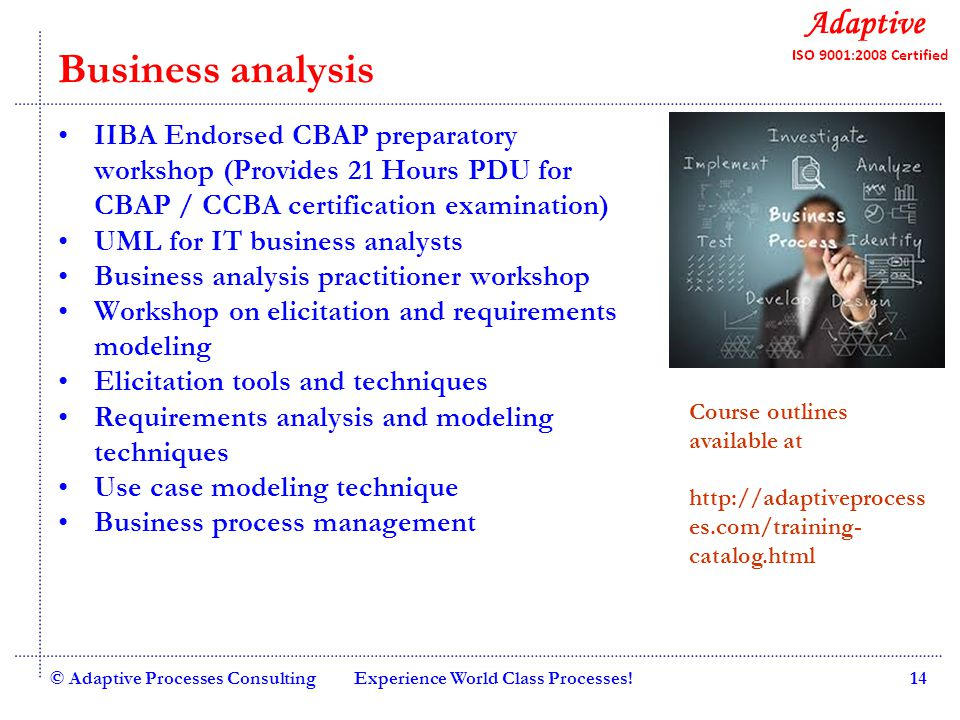 Quality Consulting Business analysis IIBA Endorsed CBAP preparatory workshop (Provides 21 Hours PDU for CBAP / CCBA certification examination) UML for