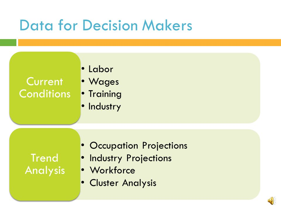 Data for Decision Makers
