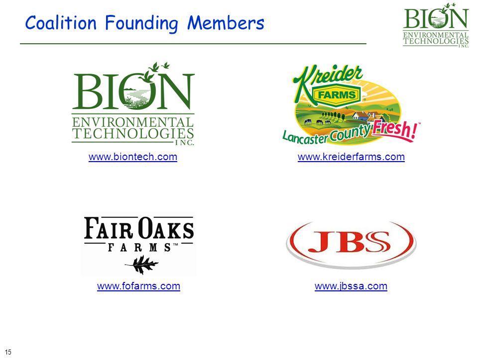 Coalition Founding Members 15 www.biontech.comwww.kreiderfarms.com www.fofarms.comwww.jbssa.com