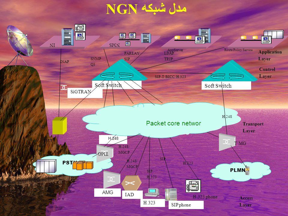 Servive / Application Layer مدل شبكه NGN
