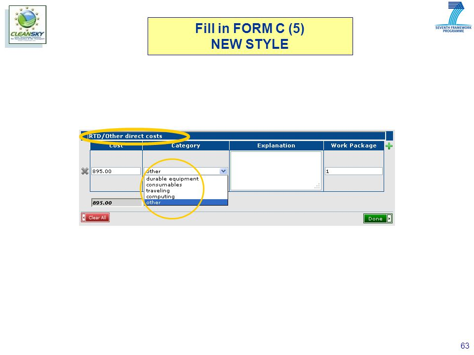 63 Fill in FORM C (5) NEW STYLE