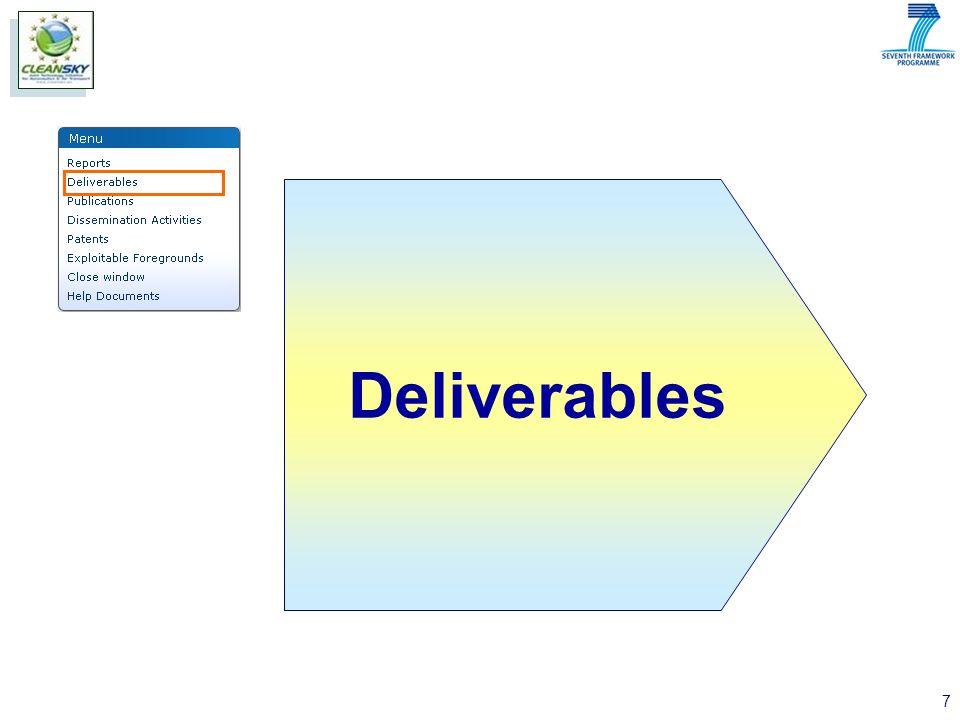 7 Deliverables
