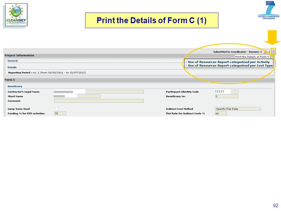 92 Print the Details of Form C (1)