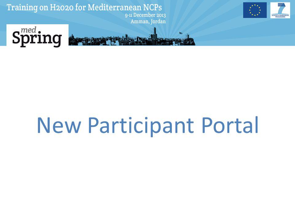 New Participant Portal