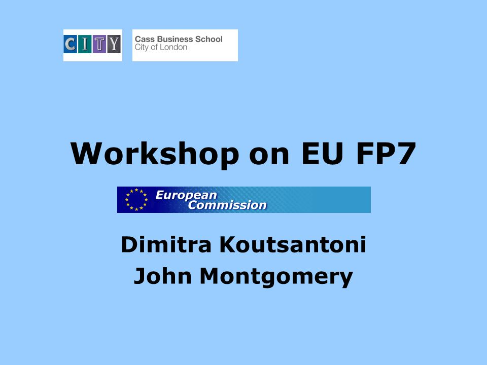 Overview of workshop What is new in FP7.