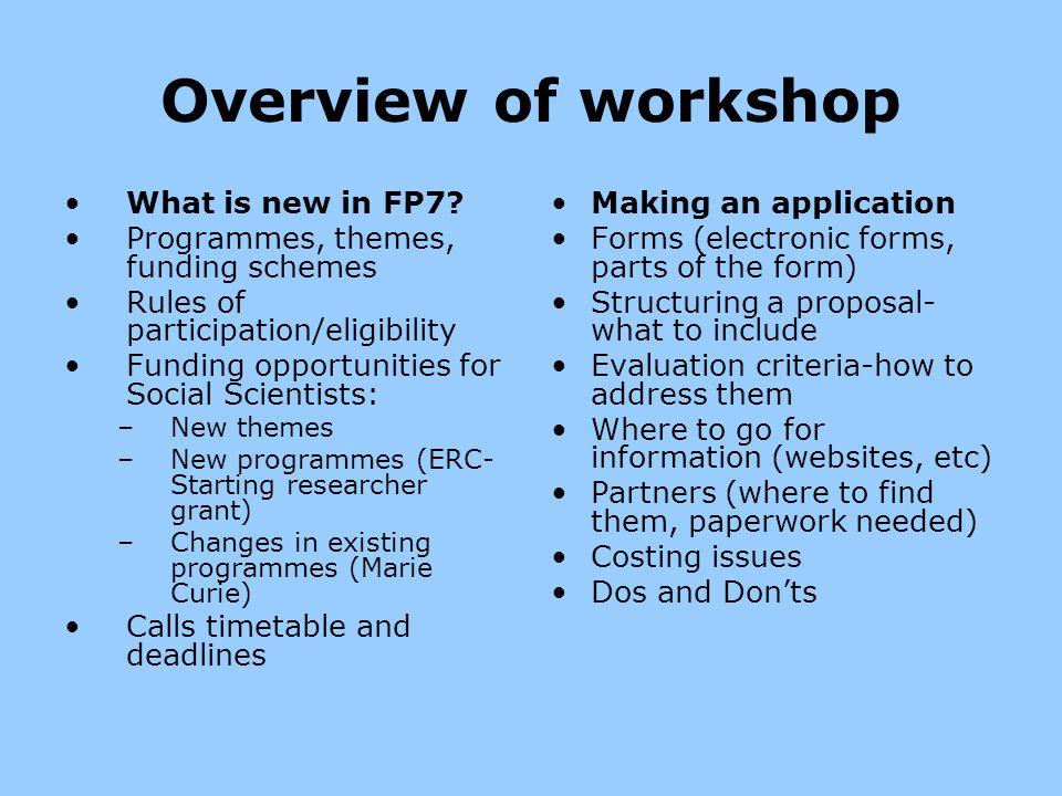 What is new in FP7.More money. (€54 billion vs.