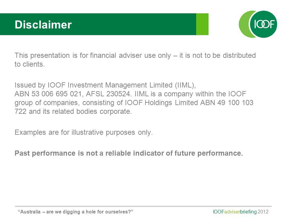 IOOF adviserbriefing 2012