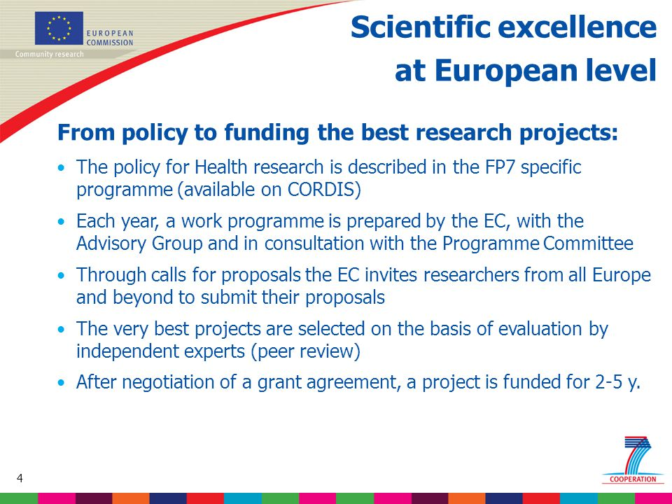 55 Based on proposed draft work programme prior to final consultations Cooperation programme Health theme 3: Optimising the delivery of healthcare  Translating clinical research into clinical practice  Quality, efficiency and solidarity of healthcare systems  Enhanced health promotion and disease prevention