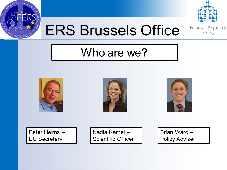 ERS Brussels Office Who are we.