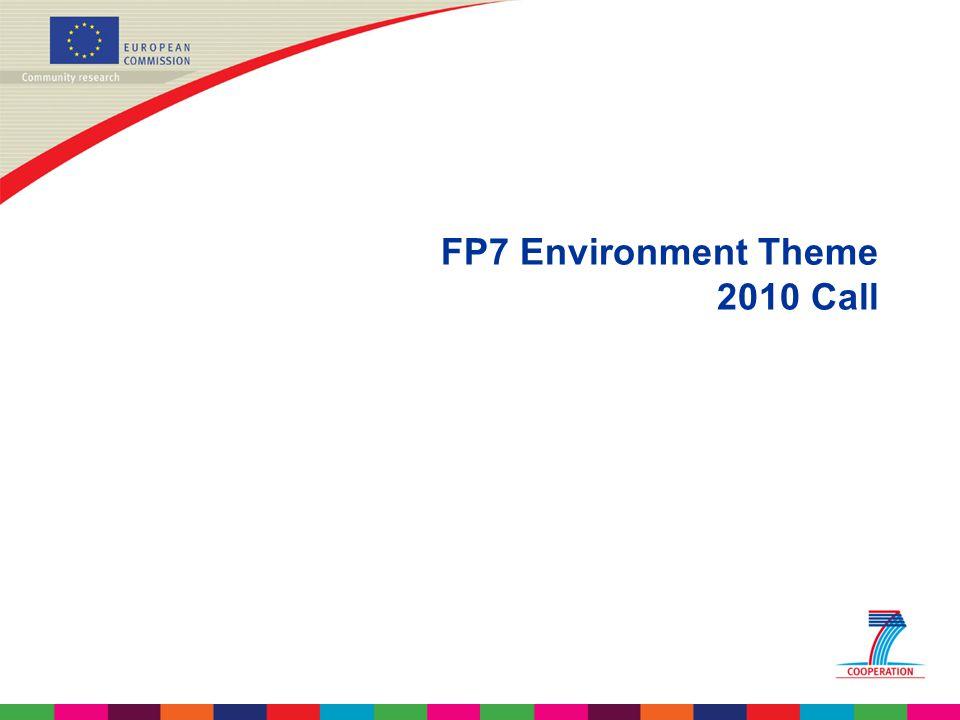 FP7 Environment Theme 2010 Call