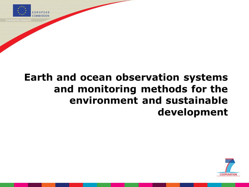 Earth and ocean observation systems and monitoring methods for the environment and sustainable development