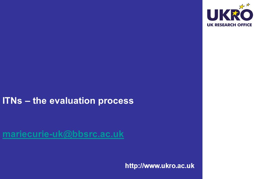 ITNs – the evaluation process