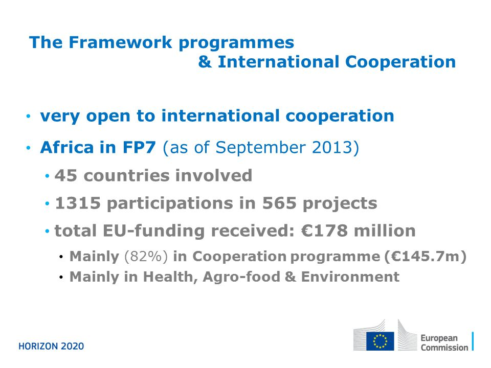 Framework Research Programme The Framework Programmes