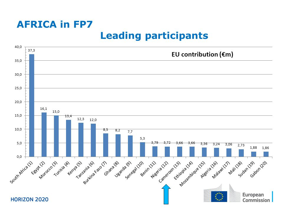 AFRICA in FP7 Leading participants