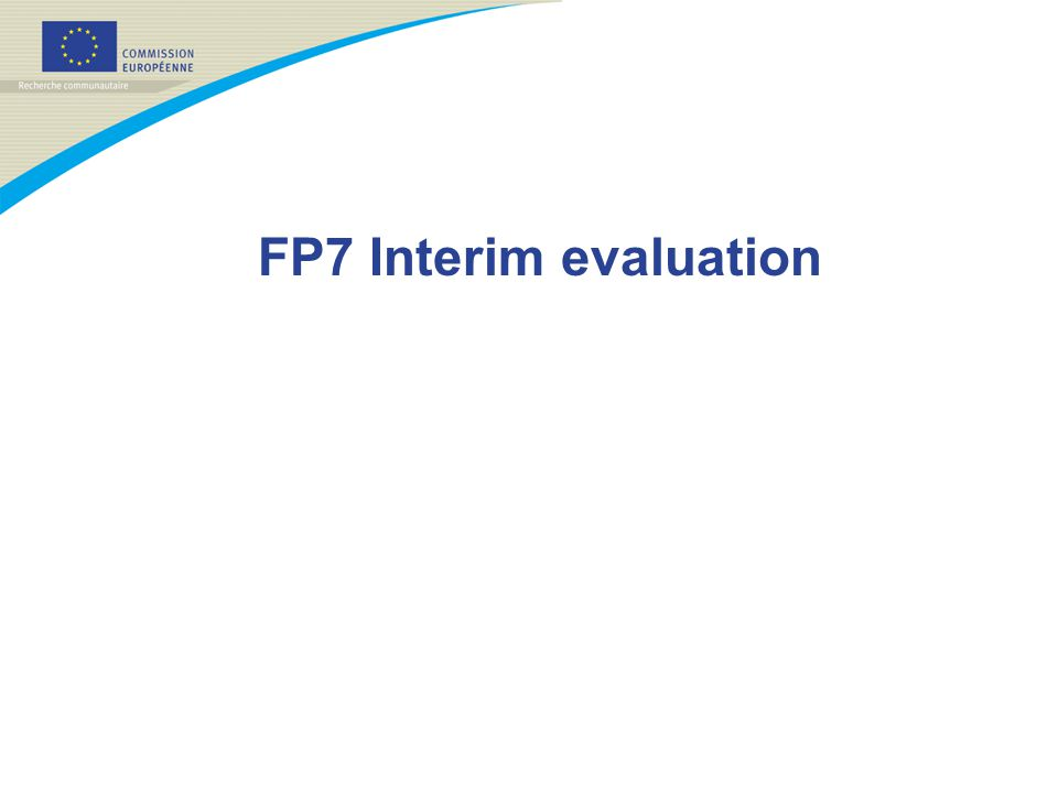 FP7 Interim evaluation