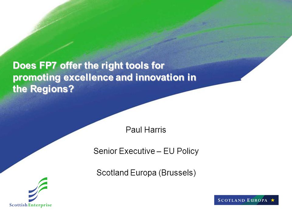 Does FP7 offer the right tools for promoting excellence and innovation in the Regions.
