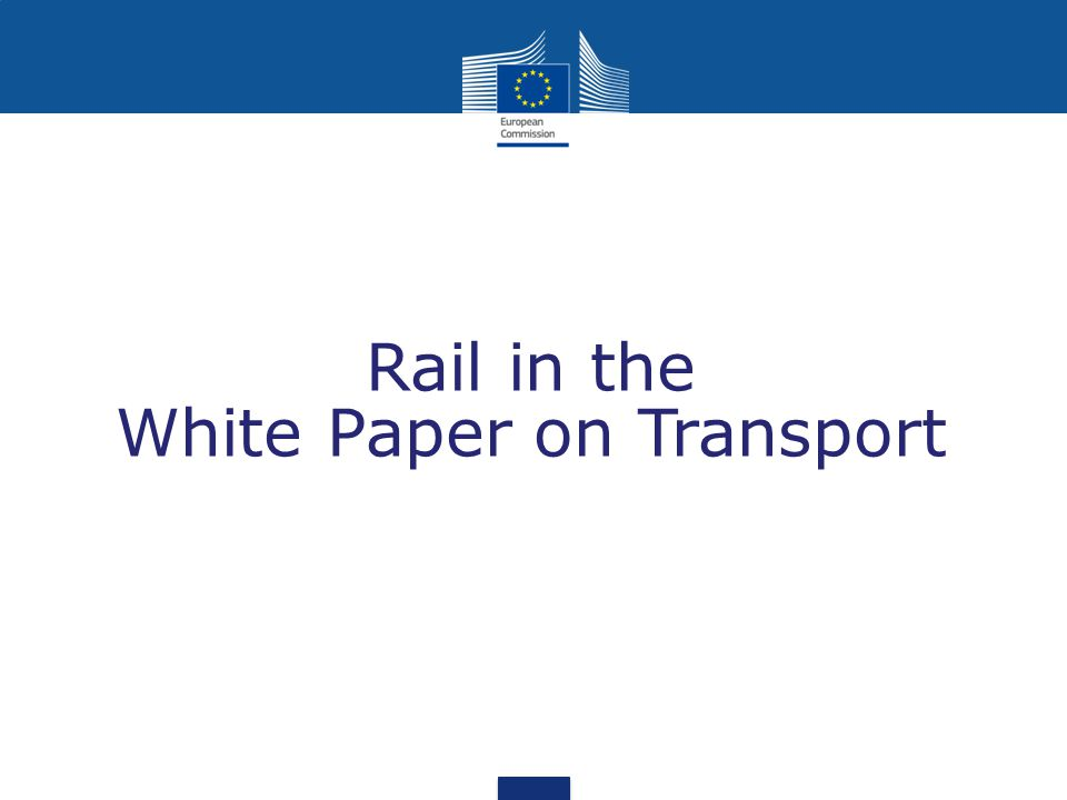 Rail in the White Paper on Transport