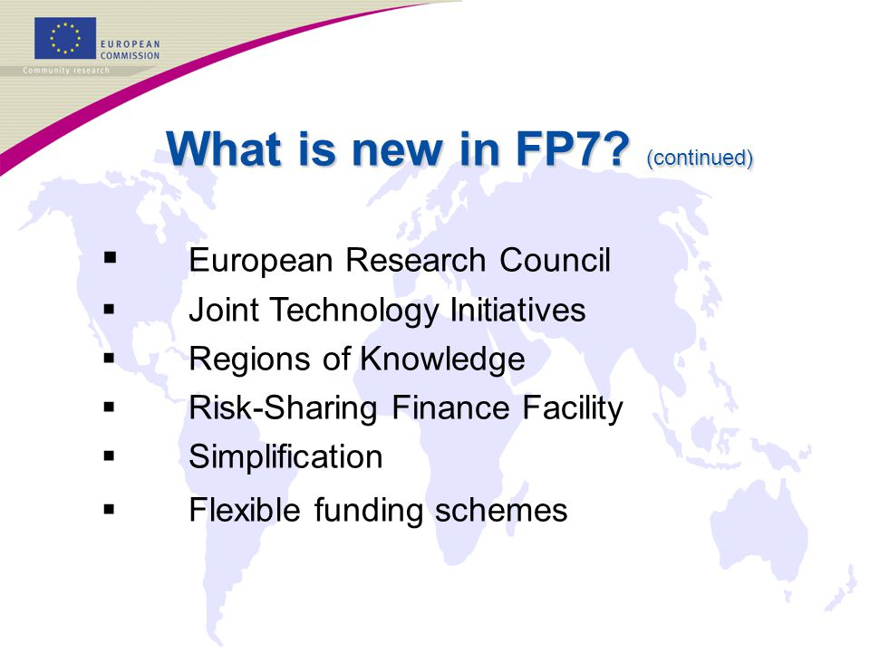 What is new in FP7.