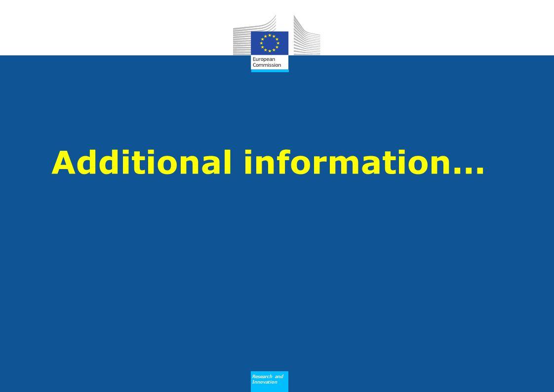 Research and Innovation Research and Innovation Additional information...
