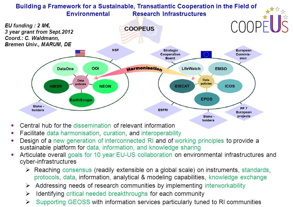 Mar 30, 2011 – Workshop EU funding : 2 M€, 3 year grant from Sept.2012 Coord.: C. Waldmann, Bremen Univ., MARUM, DE Building a Framework for a Sustain