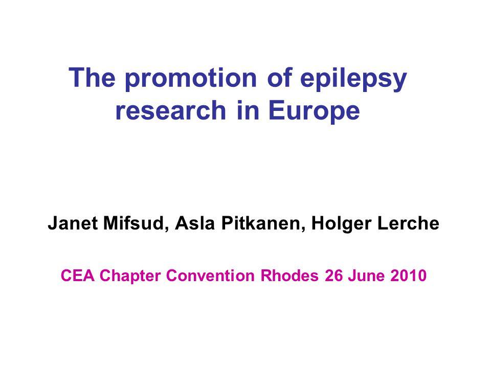 Refer to previous projects EU-funded Integrated Project Epicure –(Giuliano Avanzini; avanzini@istituto-besta.it; www.epicureproject.eu) www.epicureproject.eu European project EpiGen –(Sanjay Sisodiya; s.sisodiya@ion.ucl.ac.uk; www.epilepsygenetics.eu) www.epilepsygenetics.eu EU-funded Integrated Project Euripides –(Mathias Koepp; m.koepp@ion.ucl.ac.uk; www.euripides- europe.com )www.euripides- europe.com