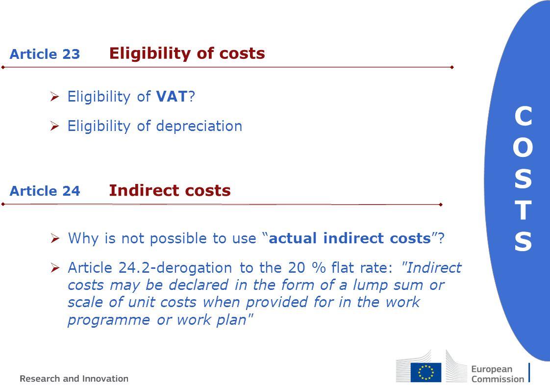  Eligibility of VAT.