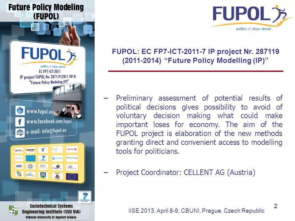 FUPOL: EC FP7-ICT-2011-7 IP project Nr.