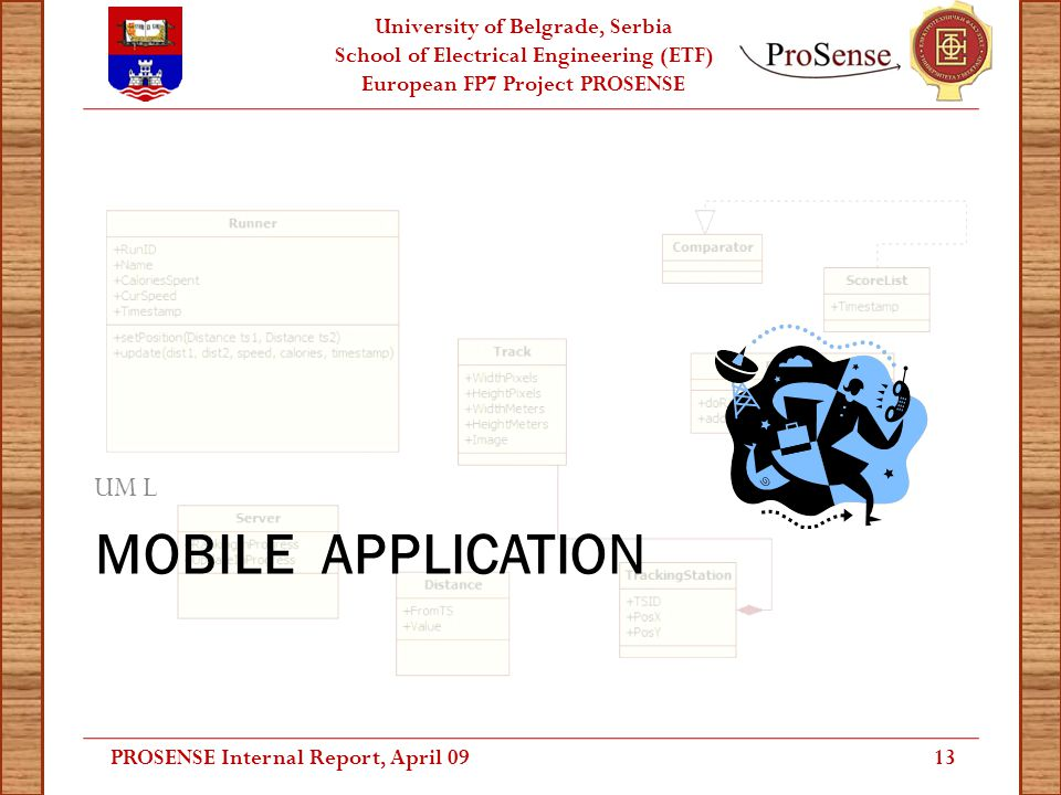 University of Belgrade, Serbia School of Electrical Engineering (ETF) European FP7 Project PROSENSE MOBILE APPLICATION UM L 13PROSENSE Internal Report
