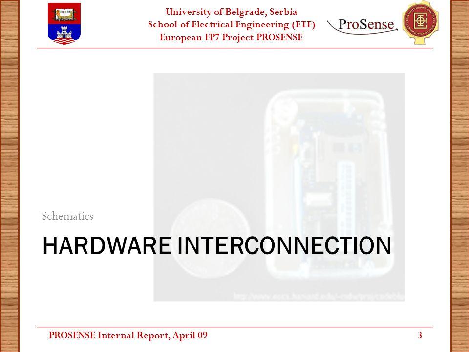 University of Belgrade, Serbia School of Electrical Engineering (ETF) European FP7 Project PROSENSE SHIMMER System Interconnection PROSENSE Internal Report, April 094