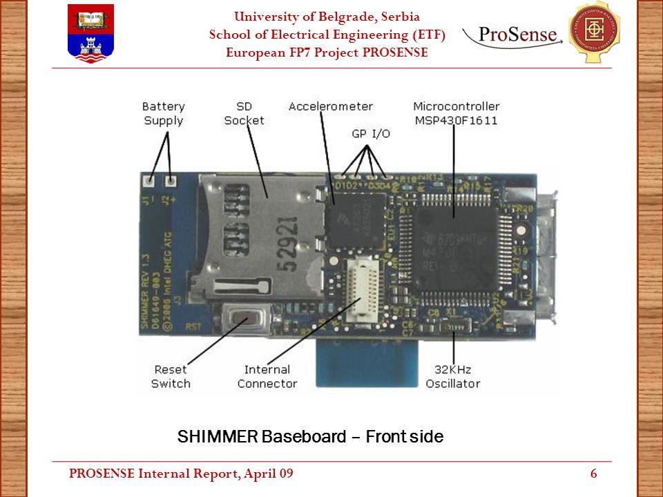 University of Belgrade, Serbia School of Electrical Engineering (ETF) European FP7 Project PROSENSE Mobile Application: Form Visualizations (2) PROSENSE Internal Report, April 0917