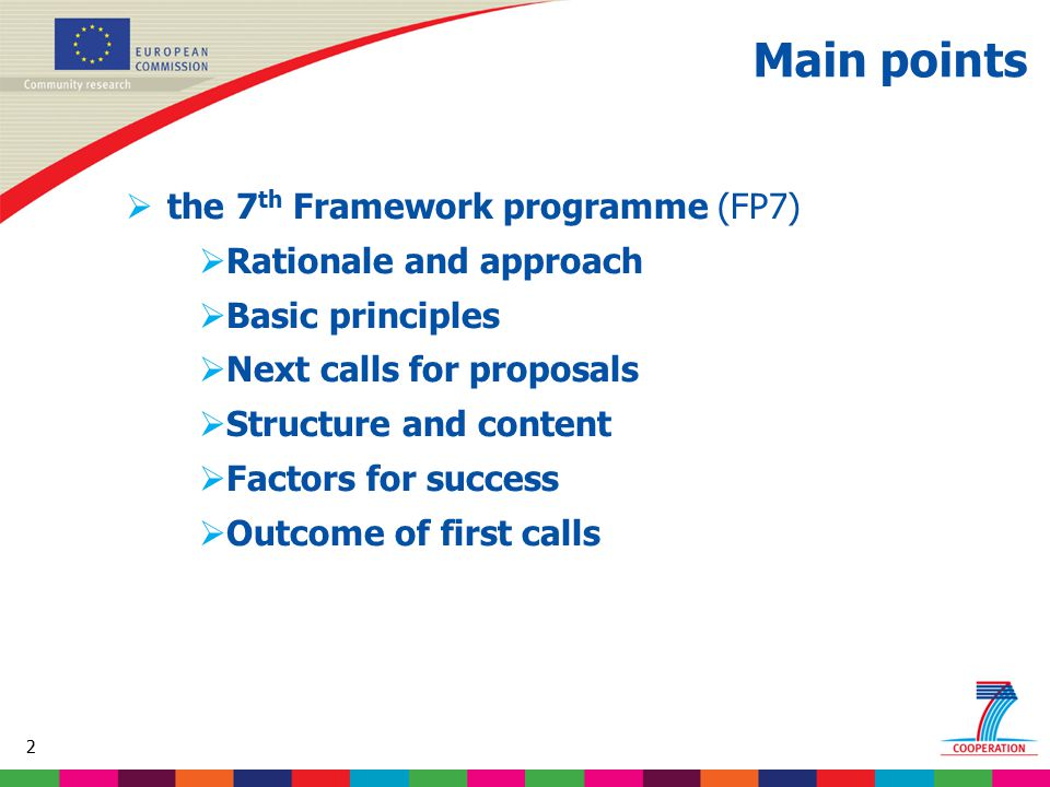 43 Based on proposed draft work programme prior to final consultations 3.3 Health promotion and disease prevention Topics proposed for 3 rd call: Child and adolescent mental health.