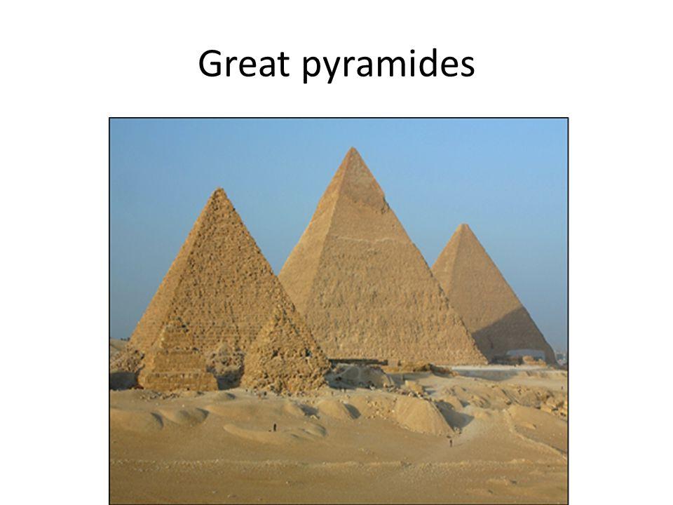Great pyramides