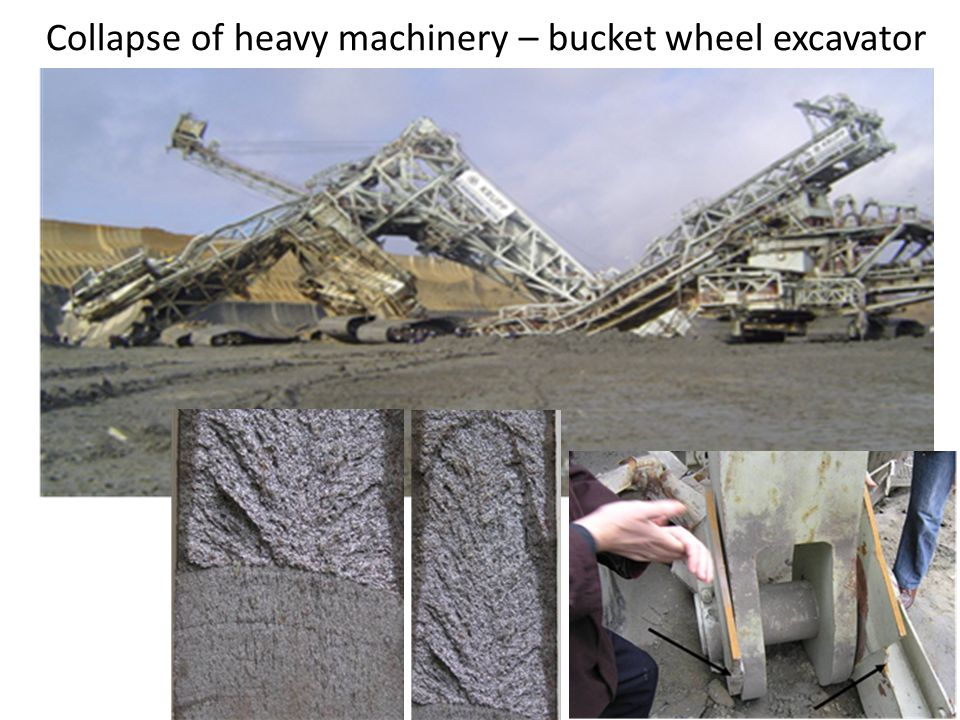 Collapse of heavy machinery – bucket wheel excavator